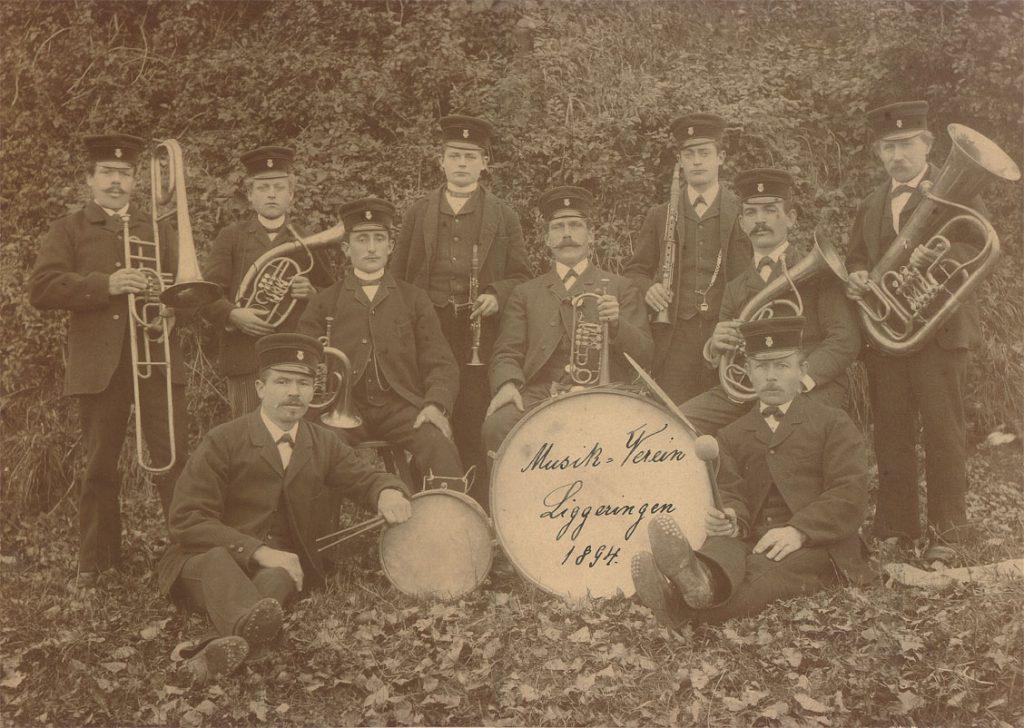 Das erste existierende Bild des Musikvereins Liggeringen von 1894